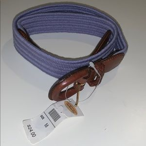 Talbots belt lavender and brown size medium